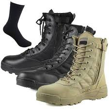 mens leather waterproof military boots