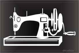 Sewing Machine Decals Stickers Decalboy