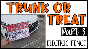 Trunk Or Treat Part 3 Jurassic Park Electric Fence Youtube