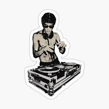 Bruce Lee Dj Sticker By Zakdzgeek Redbubble
