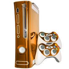 Orange Chrome Xbox 360 Skin