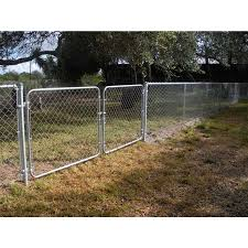 Common 5 Ft X 10 Ft Actual 5 Ft X 9 5 Ft Galvanized Steel Chain Link Fence Gate In The Metal Fence Gates Department At Lowes Com