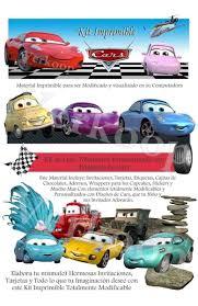 Kit Imprimible Cars Disena Tarjetas Invitaciones De Cumple