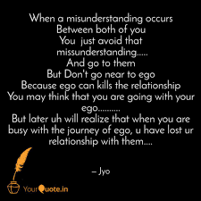 when a misunderstanding o quotes writings by jyothi jyo