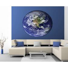 Shop Full Color Decal Planet Earth Sticker Planet Earth Wall Art Decal Sticker Decal Size 33x33 Overstock 13965123