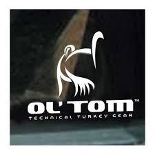 Ol Tom Logo Window Decal Midwest Turkey Call Supply