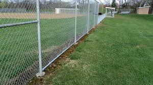 Moore Rec Center Baseball Field Foul Line Chain Link Fence Installed By Tri Boro Fencing Chain Link Fence Fence Styles Chain Link