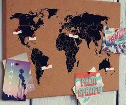 World Map Cork Board Cork Board Shop Decoration Travel Map Diy