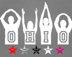 Stick Figure Buckeye Auto Decals Google Search Ohio State Decals Silhouette Vinyl Ohio State Art