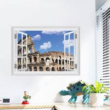 Roman Amphitheatre 3d Wall Stickers Creative Home Decal For House Living Room Roof Sticker Wall Decal Wall Stickers Baby Wall Stickers Bedroom From Kity12 3 02 Dhgate Com