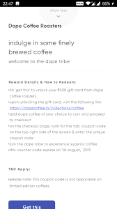 cred burn k coins and get ₹ dope coffee voucher desidime