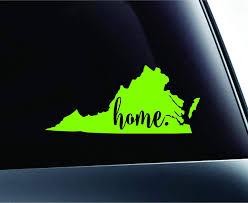 Va Home State Richmond Rva Virginia Vinyl Sticker Die Cut Decal