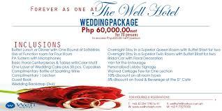 wedding package1 well hotel cebu