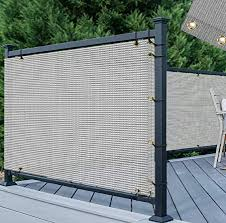 Amazon Com Tang 3 X 50 Gray Grey Residential Commercial Privacy Deck Fence Screen 200 Gsm Weather Resistant Outdoor Protection Fencing Net For Balcony Verandah Porch Patio Pool Backyard Rails Garden Outdoor