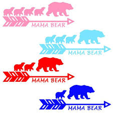 Mama Bear With Cubs Decal Mama Bear Vinyl Decal Window Etsy