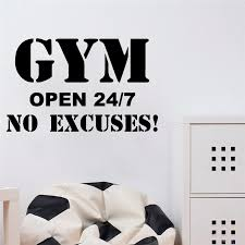Hot Sale Gym Decal Frase Wall Stickers For Gym Fitness Room Motivation Wall Art Decals Sticker Vinyl Mural Pegatina Pared Gym Wall Stickers Aliexpress