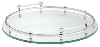 clear glass round tray eichholtz