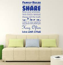Family Rules Wall Art Vinyl Decor Wall Decal Customvinyldecor Com