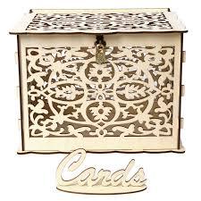 rustic wood card box gift card holder