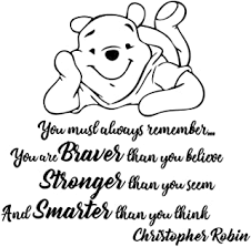 Nl113 Classic Winnie The Pooh Wall Decal Lettering Pooh Nursery Kids Bedroom Decor Quotes A Grand