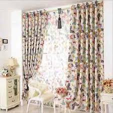80 Blackout Blockout Eyelet Curtains Butterfly Kids Baby Girl Nursery Room Ebay