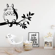 Cute Totoro Wall Stickers Personalized Creative Home Decor Children House Removable Decor Wall Decals Wish