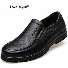 genuine leather shoes men brand