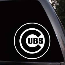 Chicago Cubs Logo Baseball Car Truck Window Laptop Viny