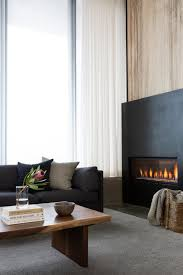 wood living room with gas fireplace