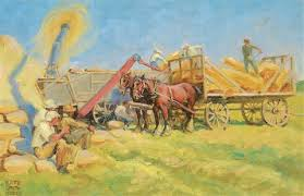 Threshing Time by Kate Adeline Smith Hoole on artnet