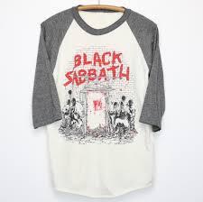 black sabbath mob rules tour shirt 1981