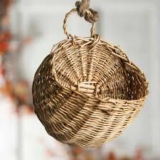 small wall wicker basket baskets