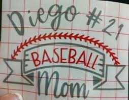 Personalized Proud Basebal Mom Decal Sticker For Yeti Cup Tumbler Water Bottle Ebay