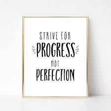 Strive For Progress Not Perfection Digital Quote Etsy