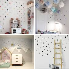 Small Raindrop Wall Sticker For Kids Room Baby Girl Room Wall Decor Baby Boy Room Home Decor Children Bedroom Wall Stickers Toddler Bedroom Wall Kids Bedroom Wall Decor Wall Stickers Bedroom