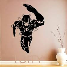 The Flash Wall Sticker Superhero Movie Poster Vinyl Decal Art Nursery Children Kid Room Stencil Mural Home Room Decor Self Adhesive Wall Stickers Shop Wall Decals From Totwo2 22 61 Dhgate Com