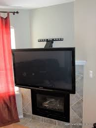 pull down in front of fireplace tv