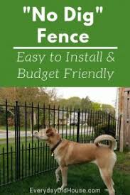 How To Install A No Dig Fence Lowes Grand Empire Xl Everyday Old House