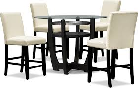 Lennox Counter Height Dining Table And 4 Stools Value City Furniture