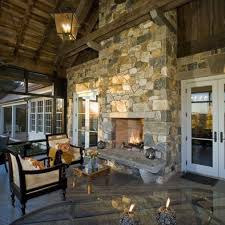 traditional double sided fireplace