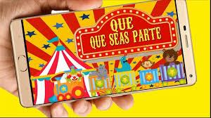 Circo Video Tarjeta Invitacion Digital Cumpleanos Whapsapp