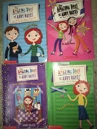 Lote De 4 Livros Muito Bom Estado Abby Hayes incrível dias Brochura Livros  Anne Mazer Scholastic | eBay