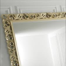 antique mirror frame gold brass म रर