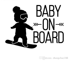 2020 16 12cm White Black Baby On Board Car Decal Boy On Snowboard Vivyl Car Stickers Ca 582 From Zhangchao188 0 51 Dhgate Com