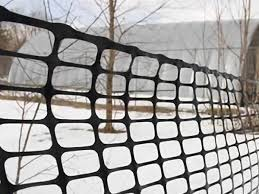 Plastic Netting As Safety Fencing Or Warning Barrier For Construction