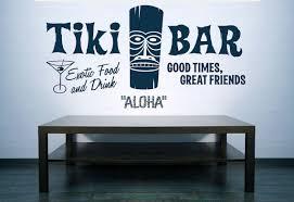 Tiki Bar Aloha Hawaii Retro Ad Vinyl Decal Wall Art Wall Sticker Wall Decal Wall Decor Kitchen Home Decor Tiki Decor Tiki Bar Signs Tiki Bar