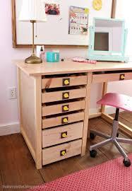 diy vanity desk with deep drawers