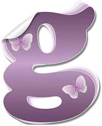 Amazon Com Wall Letter Stickers Custom Name Decals Girls Personalized Initial Baby Nursery Kids Room Decor Child Playroom Bedroom Home Vinyl Alphabet Removable Peel Stick Butterflies Letter G Purple Butterfly Baby