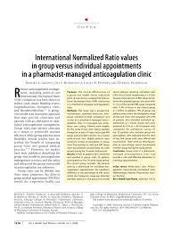 pdf international normalized ratio