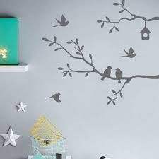Self Adhesive Bird Tree Vinyl Wall Stickers Decals Art Word Decoration Black White Pink Gray Wall Sticker Wall Stickers Aliexpress